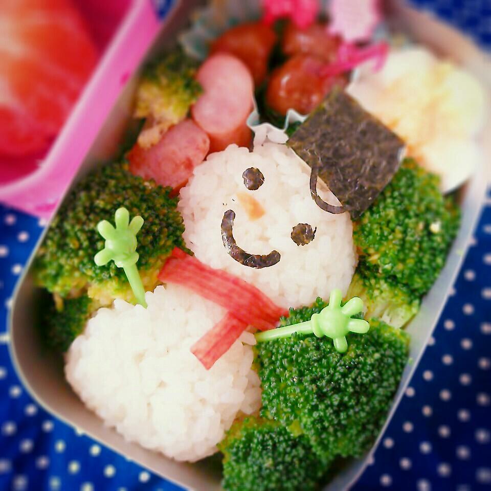 【キャラ弁レシピ】雪の日もへっちゃら!ゆきだるま弁当♪