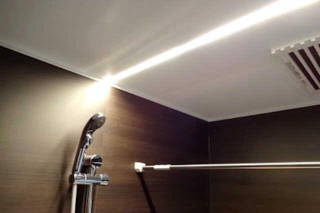 ⑤照明は、ライン形状や調光できる物などを選べる