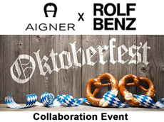 「AIGNER x ROLF BENZ Special Collaboration」