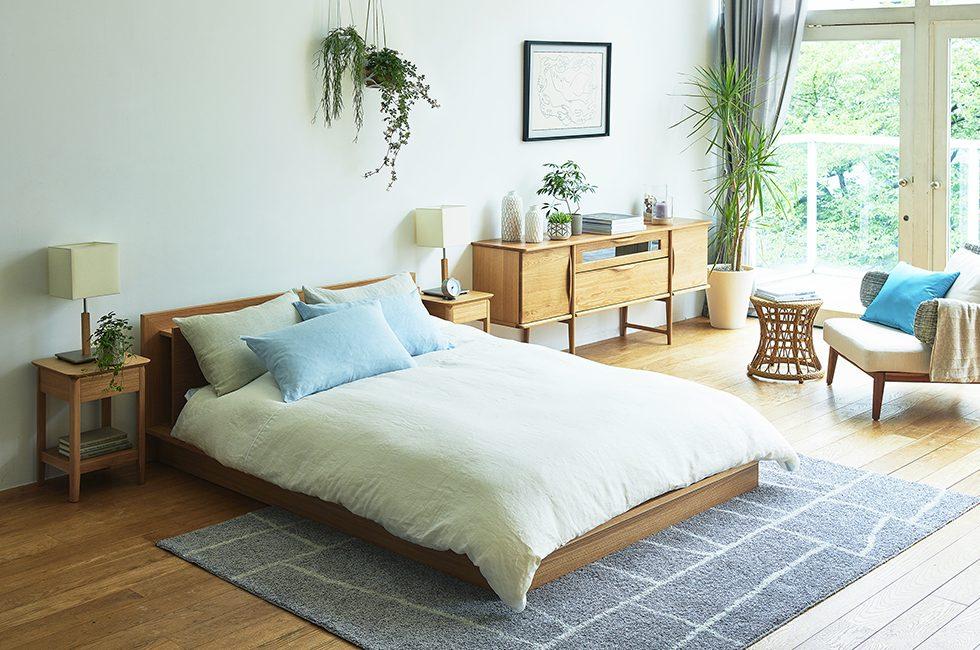 北欧スタイルでまとめた自然派ベッドルーム
