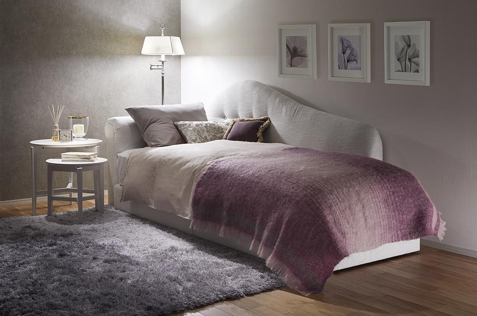 一人暮らし向けの省スペースベッドルーム