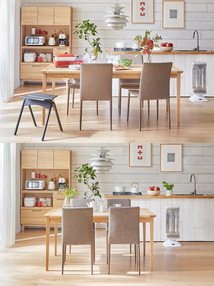 ホームパーティーも楽しめる伸長式テーブルを使ったナチュラルスタイルのダイニング