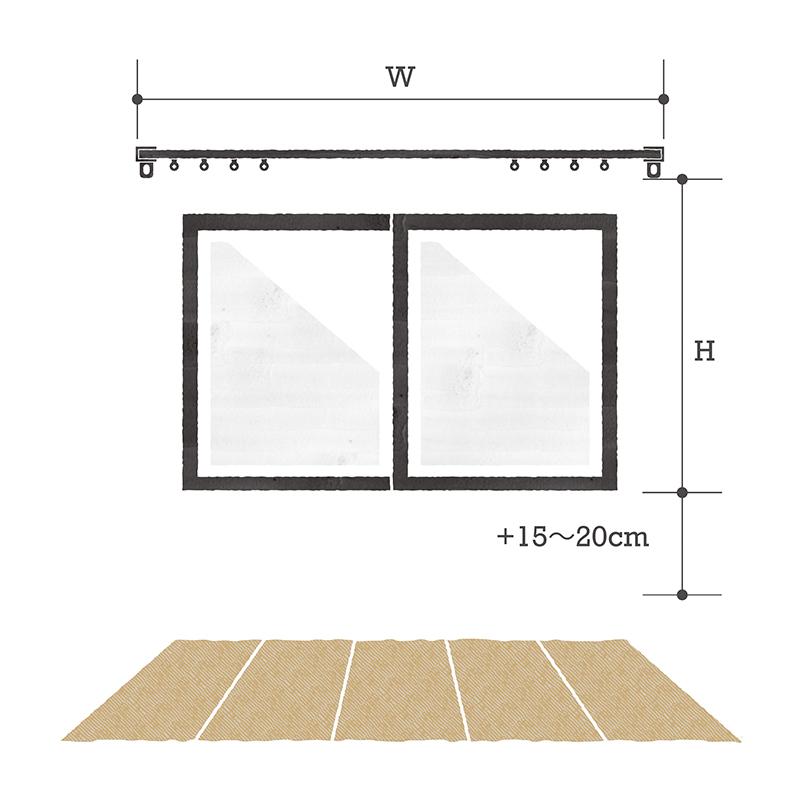 腰窓の測り方