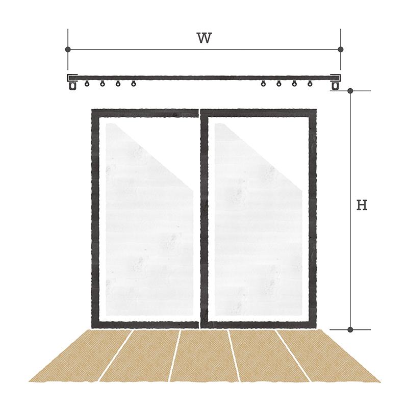 掃き出し窓の測り方