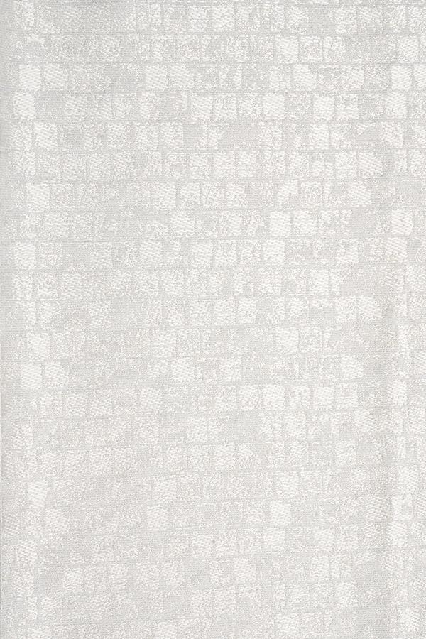カーテン生地 モザイク ホワイト