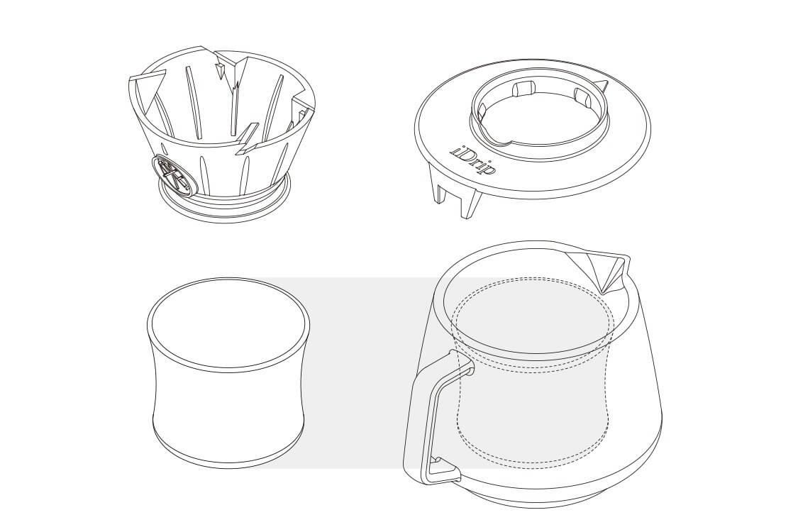 iDrip 矽膠濾杯架公杯壺組
