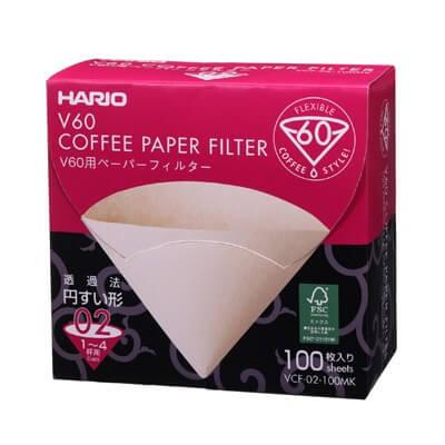 Hario V60原色02濾紙100盒裝
