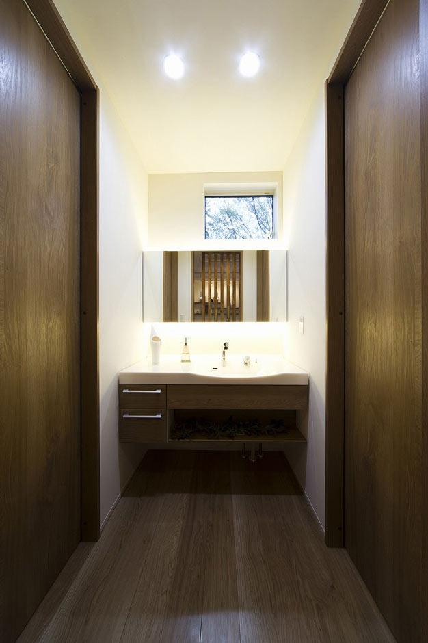 HAPINICE -ハピナイス-【デザイン住宅、間取り、建築家】水周りにもオンリーワンを。心地よくその日の始まり過ごせる空間