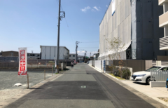 遠鉄ホーム【浜松市中区早出町】前道写真(2021年4月中旬撮影)