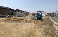 遠鉄ホーム【浜松市中区上島二丁目】現地写真 現在造成中(2021年5月中旬撮影)