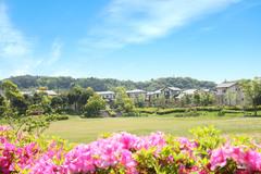 遠鉄ホーム【袋井市可睡の杜】四季を感じる豊かな自然に囲まれた立地です。