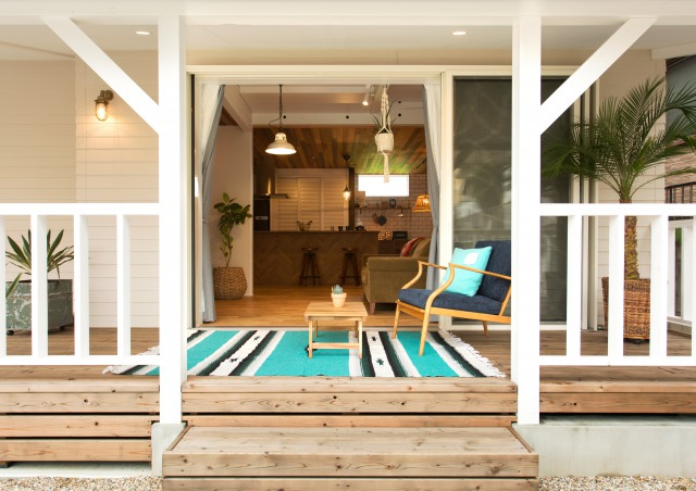 MinerBaseStudio/ミネルベーススタジオ【デザイン住宅、輸入住宅、趣味】沢山の友人を呼ぶA様。庭で開くBBQにはウッドデッキが大活躍する
