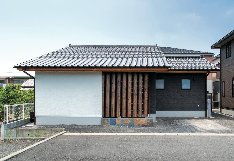 TDホーム静岡西 ウエストンホームズ【和風、自然素材、平屋】京都町家風の外観