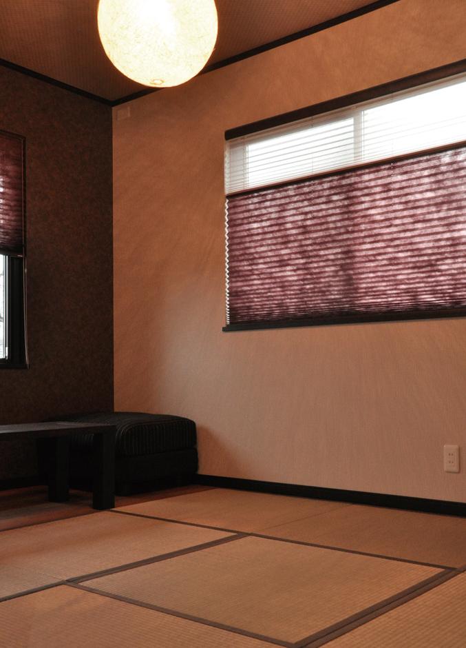 和モダンを意識した和室。和風・洋風どちらの家具を置いても雰囲気を損ねずにまとまる