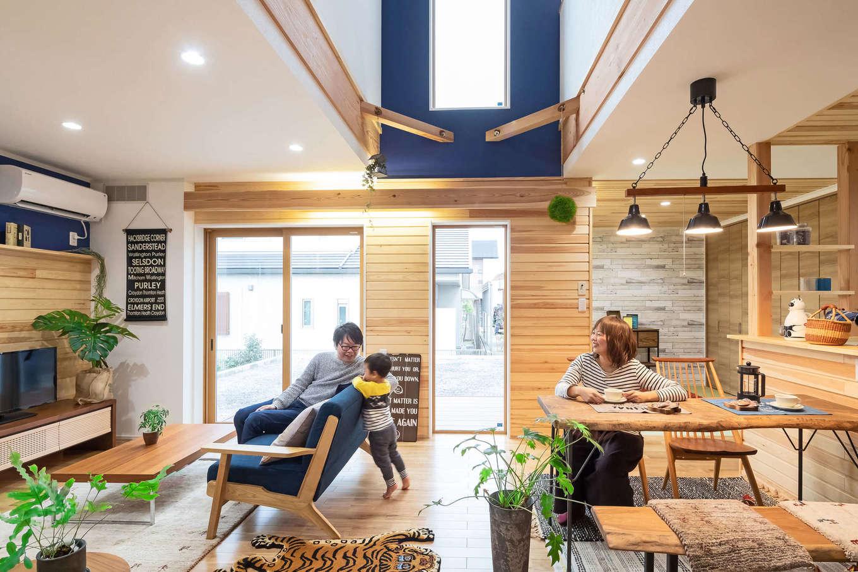 illi-to design 鳥居建設21【デザイン住宅、子育て、インテリア】LDKは、とても明るく開放的な空間