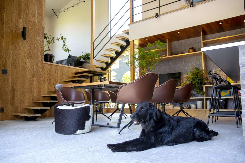 一級建築士事務所GO_AN (ゴアン)【駿東郡長泉町・オープンハウス】代表の近藤さんは愛犬家住宅コーディネーターの資格を持ち、自身も大型犬を飼っているので、犬と飼主が一緒に快適に暮らせる住まいを提案してくれる。SRC基礎の家はエアコンを必要としないので、毛やホコリが舞う量を抑えられ、アレルギーも軽減できる