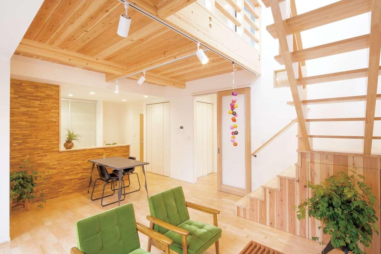 建築家がデザインした大空間のある平屋