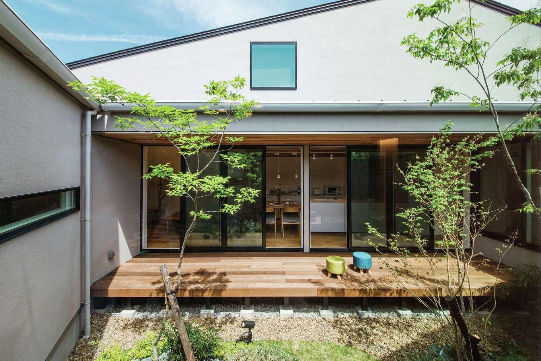ワンズホーム【浜松市浜北区小松3044-1付近・モデルハウス】家の中にいながら外にいるかのような不思議な感覚。住まう人だけのプライベート空間が、日常を特別な空間へと誘ってくれる