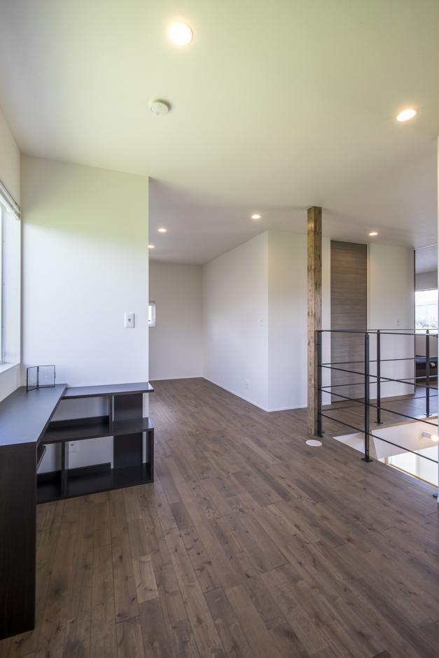 あめみや工務店【デザイン住宅、省エネ、インテリア】後々は個室として分けられる空間。家族の生活の変化に対応