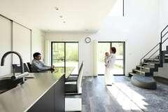 家事ラク動線を備えた 機能性の高いデザインハウス