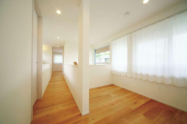 エコフィールド|2階は増築+間取り変更で広さと明るさがアップ。成長に合わせ間仕切りも可能