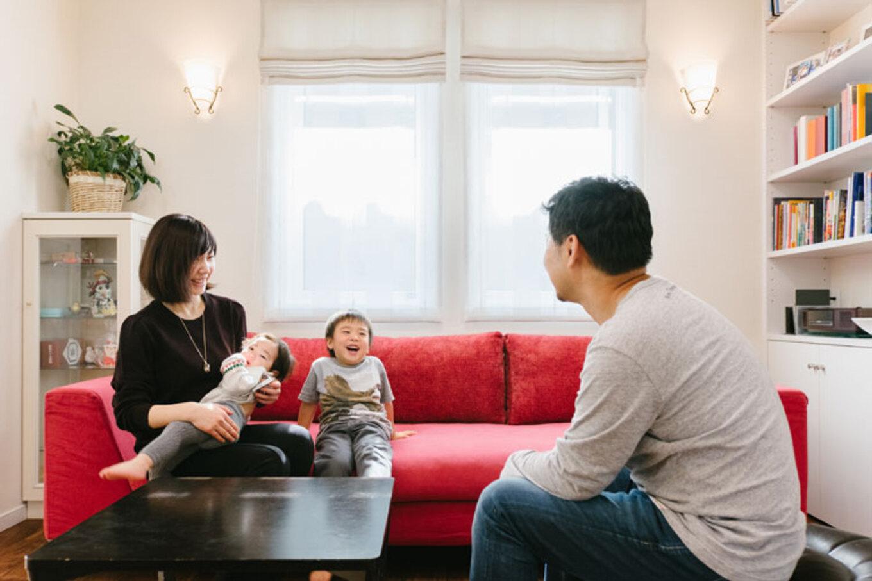 ナカゴミ建設【収納力、間取り、趣味】家族の笑い声が絶えない住み心地抜群のリビング