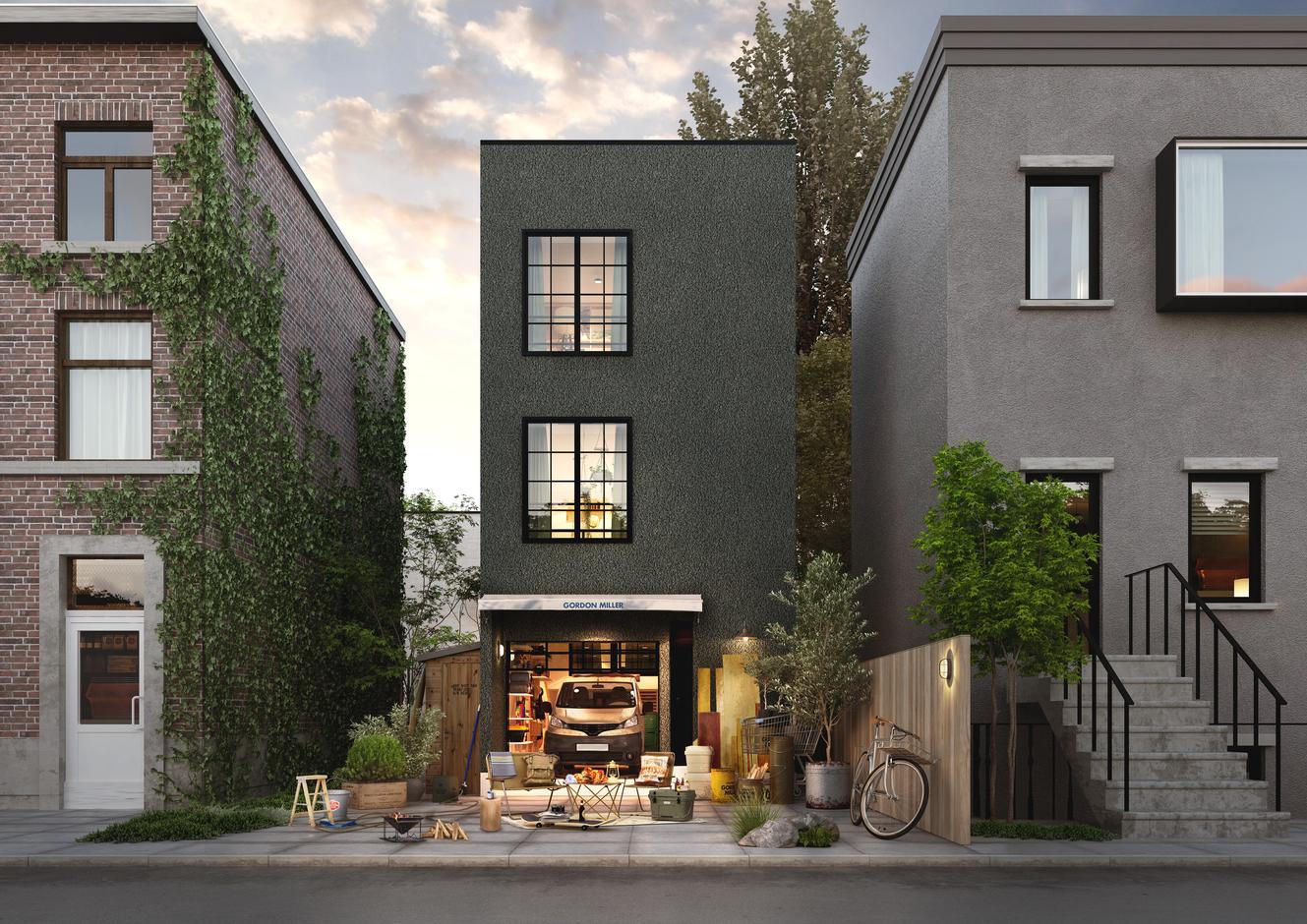 限られた敷地でも建てられるコンパクトな3階建てプラン。
