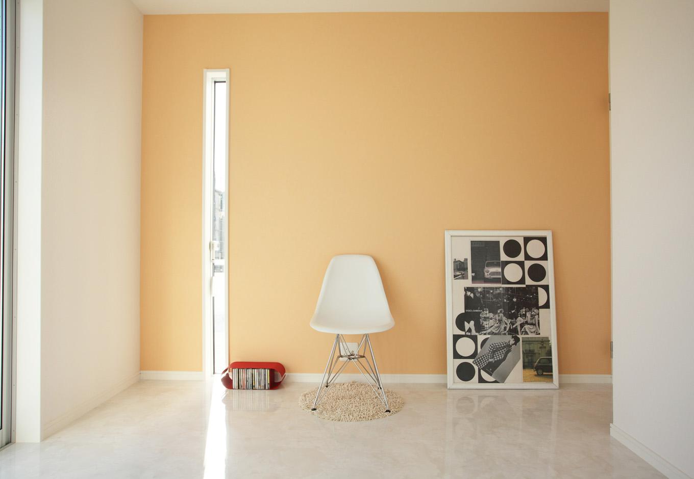 ティアラホームスタイル【1000万円台、デザイン住宅、間取り】子供部屋は爽やかなパステルオレンジ