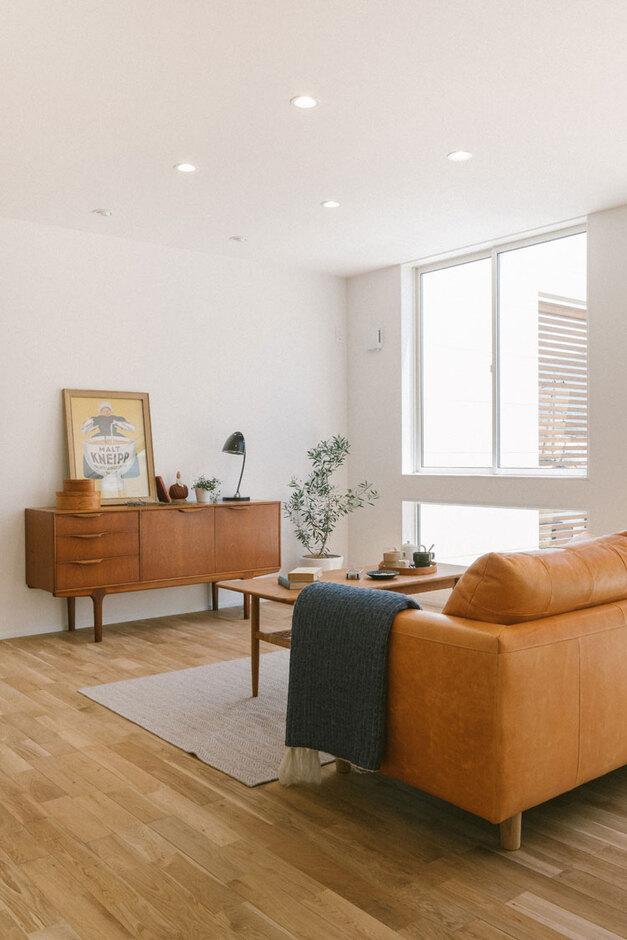 ienowa【デザイン住宅、間取り、インテリア】無垢材(オーク)の床×白で北欧テイスト