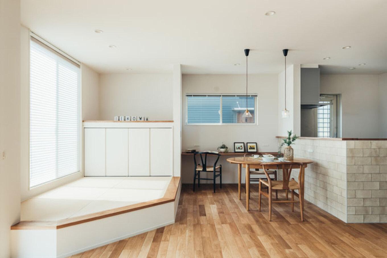 ienowa【デザイン住宅、間取り、インテリア】空間はひとつながり。どこにいても家族の気配を感じることができる