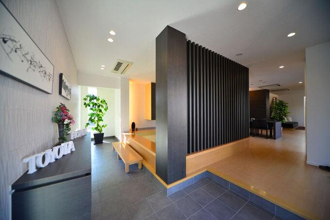 大空間だからできる開放的な玄関スペース