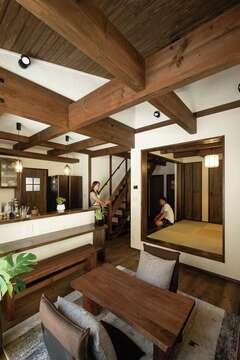 """自然素材も、造作も、高い性能も! 充実の""""標準""""で叶えた和モダンの家"""