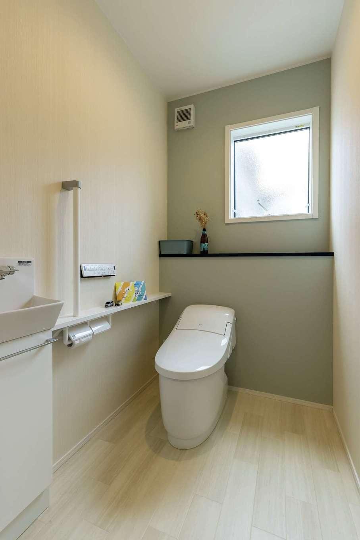静鉄ホームズ【デザイン住宅、省エネ、間取り】トイレにもゆとりを。将来子どものトイレトレーニングの際にも見守りやすいひと工夫