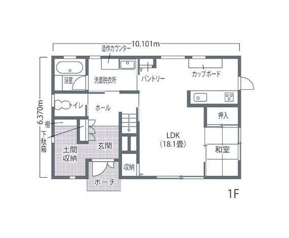静鉄ホームズ 家族の暮らしを快適にする パッシブデザインの高性能住宅 1F