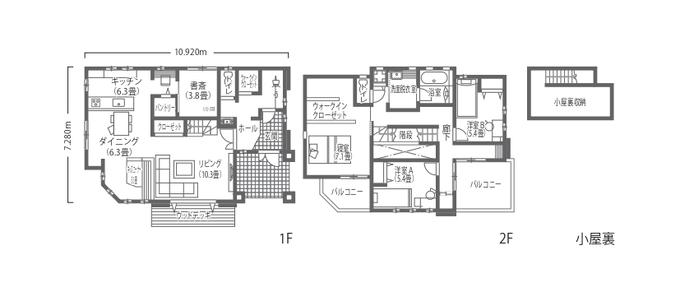吉川住建 開放感と家事ラクを両立した、フレンチスタイルの白いお家 開放感と家事ラクを両立