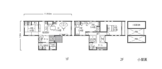 吉川住建 吹抜けのらせん階段が魅力! 光あふれ風そよぐ「T字型」の家 家事動線を意識したお家