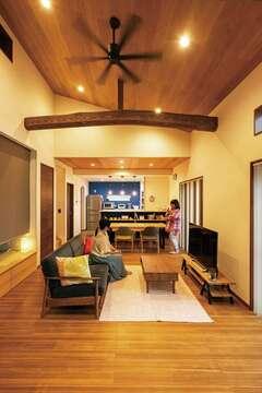 自然素材の温もりに包まれて ゆったり暮らす平屋の家