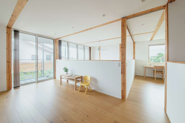 無印良品の家 浜松店(インフィルプラス)【デザイン住宅、自然素材、インテリア】子どもが成長したらフリースペースを個室にする予定