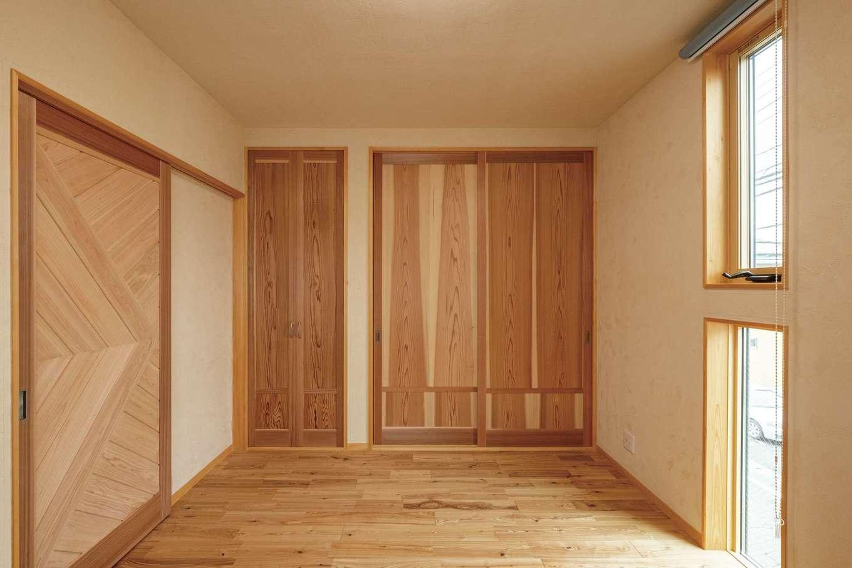 藤田工務店【二世帯住宅、自然素材、間取り】木の温もりに包まれる子ども部屋