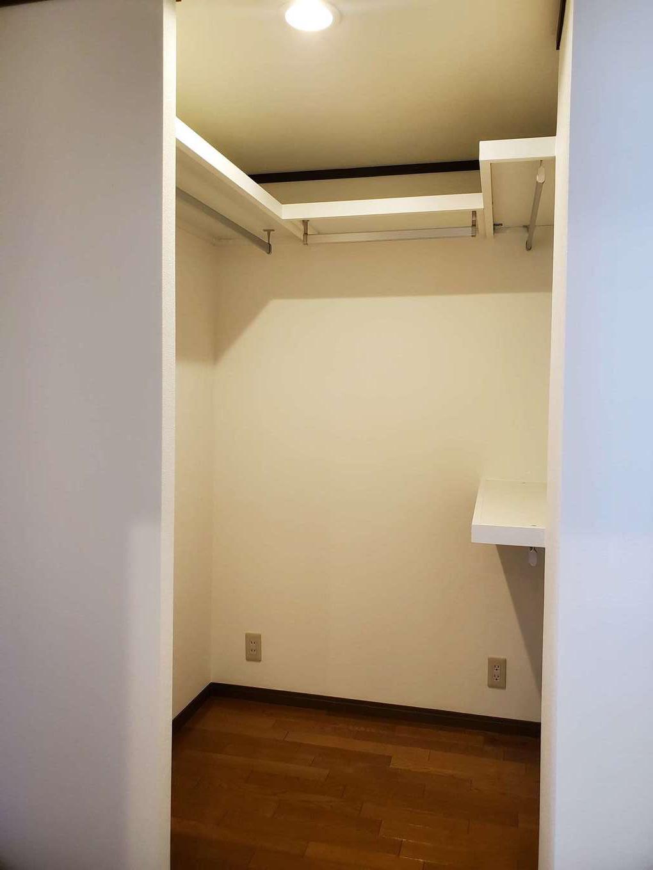 太啓建設 以前は廊下だったところにウォークインクローゼットを新たにつくり、収納力をアップした