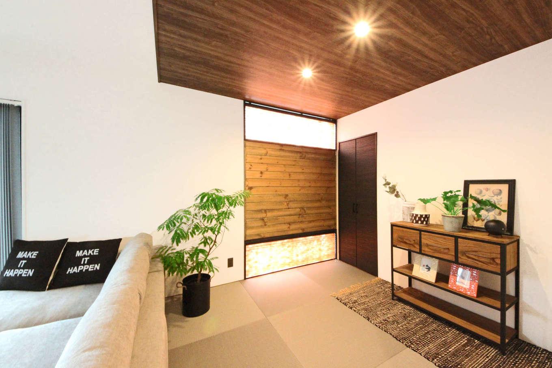 illi-to design 鳥居建設21【デザイン住宅、省エネ、インテリア】アジアンテイストでコーディネートした畳コーナー