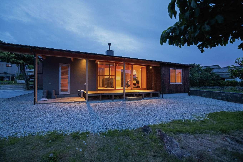 建杜 KENT(大栄工業)【自然素材、建築家、平屋】庭に面した開口部でプライバシーに配慮