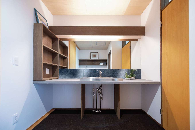 建杜 KENT(大栄工業)【自然素材、建築家、平屋】シンプルな造作洗面台