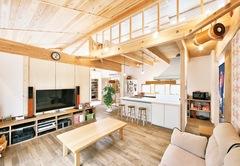 敷居、廊下、建具なしシンプルを極めた大人空間