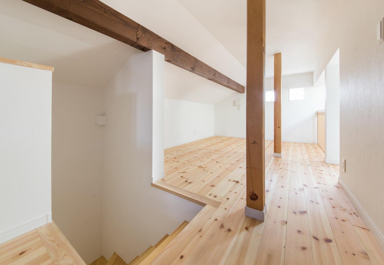 野本建築【子育て、省エネ、インテリア】階段からも、はしごからもつながる広々なロフト
