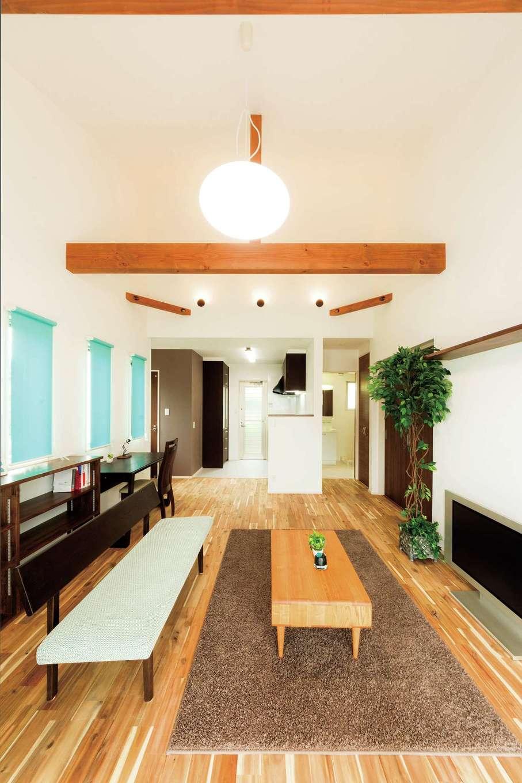 趣味を思う存分楽しめる、平屋造りのコンパクトな家