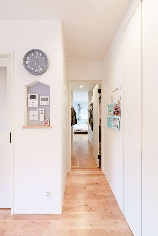 R+house沼津・伊東(HOUSE PLAN)【子育て、間取り、平屋】LDKから寝室までを一直線に配置。短い家事動線で時短を実現した