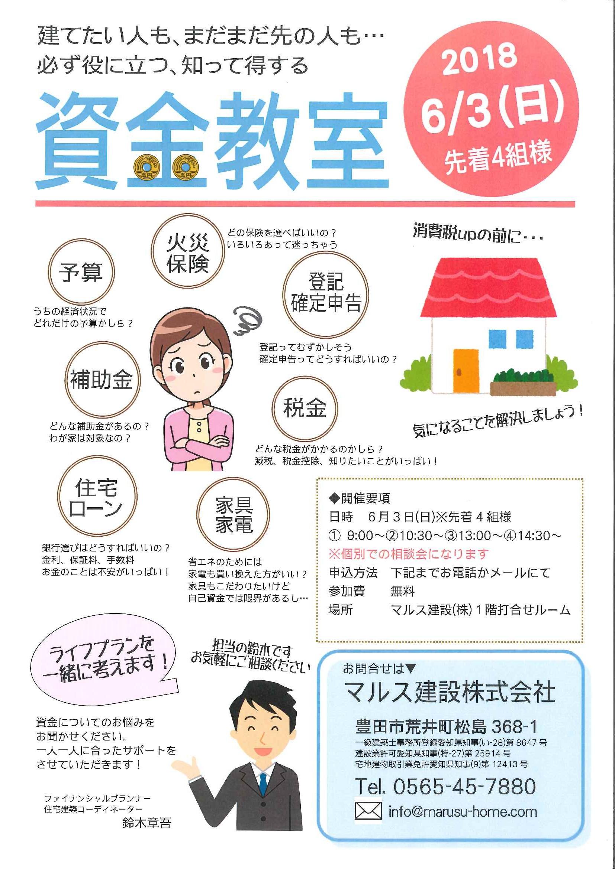【6月3日(日)】資金教室