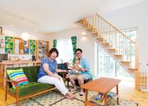 『自分らしく暮らす』 明るいリビング階段が自慢の健康住宅