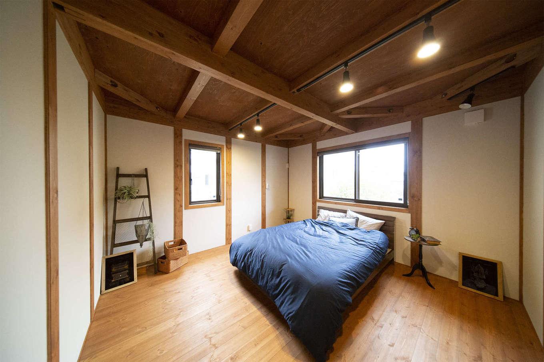 BinO清水 ブルーワン【自然素材、ペット、平屋】十分な広さがある夫婦の寝室